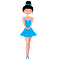 Beautiful Ballerina in Tutu Skirt Clipart vector image