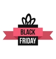 Black Friday gift box icon flat style vector image