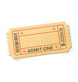 blank for ticket vector image