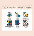 business intelligence icons vector image vector image