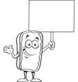 cartoon eclair holding vector image vector image
