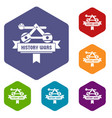 catapult icons hexahedron vector image