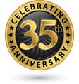 celebrating 35th anniversary gold label