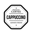 coffee cappuccino vintage stamp vector image vector image