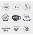 Coffee shop - badge signboard can be used to vector image vector image