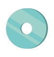 compact disk isolated icon vector image vector image