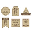 craft labels vintage design with of vector image vector image