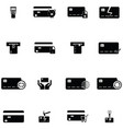 credit cards icon set vector image vector image