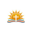cross over bible religion logo vector image vector image