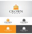 crown maker logo vector image