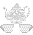 Cups of tea vector image vector image