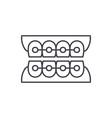 dantist braces line icon concept dantist braces vector image vector image