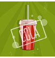 fast food with cola vector image