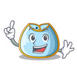 finger baby bib isolated on the mascot vector image