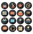 Flat design - icons set vector image vector image