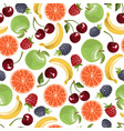 fruits seamless pattern vector image vector image