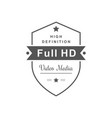 full hd logotype vector image