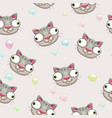 funny childish seamless pattern with crazy vector image
