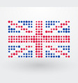 great britain flag made up of dots vector image vector image