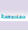 group people using online application carpooling vector image