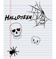 Halloween drawings on a sheet of paper vector image