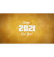 happy new year 2021 wavy background with golden vector image vector image