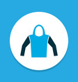 hoodie icon colored symbol premium quality vector image