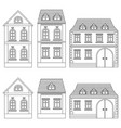 houses outline drawings buildings vector image