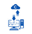 iconservice technology cloud system and transfer vector image