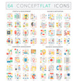 infographics concept icons of startup development vector image
