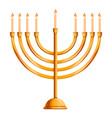 jewish menorah icon cartoon style vector image