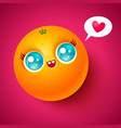 kawaii orange vector image vector image