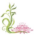 Lotus bamboo vector image vector image