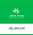 m logo design inspiration letter medical logo vector image