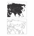 maps of asia vector image