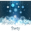 Merry Christmas Party Card vector image vector image
