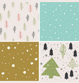 merry christmas seamless pattern set background vector image