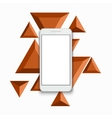 modern smartphone triangular background vector image vector image
