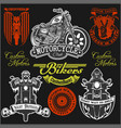 motorcycle label t-shirt design with vector image