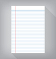 notebook paper isolated gray background empty vector image vector image