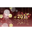 PF 2017 blurred background with hanging bauble vector image