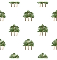 Pine icon in cartoon style for web vector image vector image