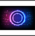 pink blue light futuristic game technology vector image vector image