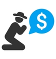 Pray For Money Flat Icon vector image