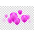 realistic pink balloon vector image vector image