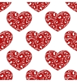 red hearts seamless vector image vector image