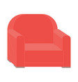 red retro armchair isolated furniture seat vector image