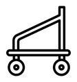 scaffold base cart icon outline style vector image vector image