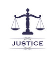scales justice symbol vector image