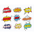 Set comic sound speech effect bubbles